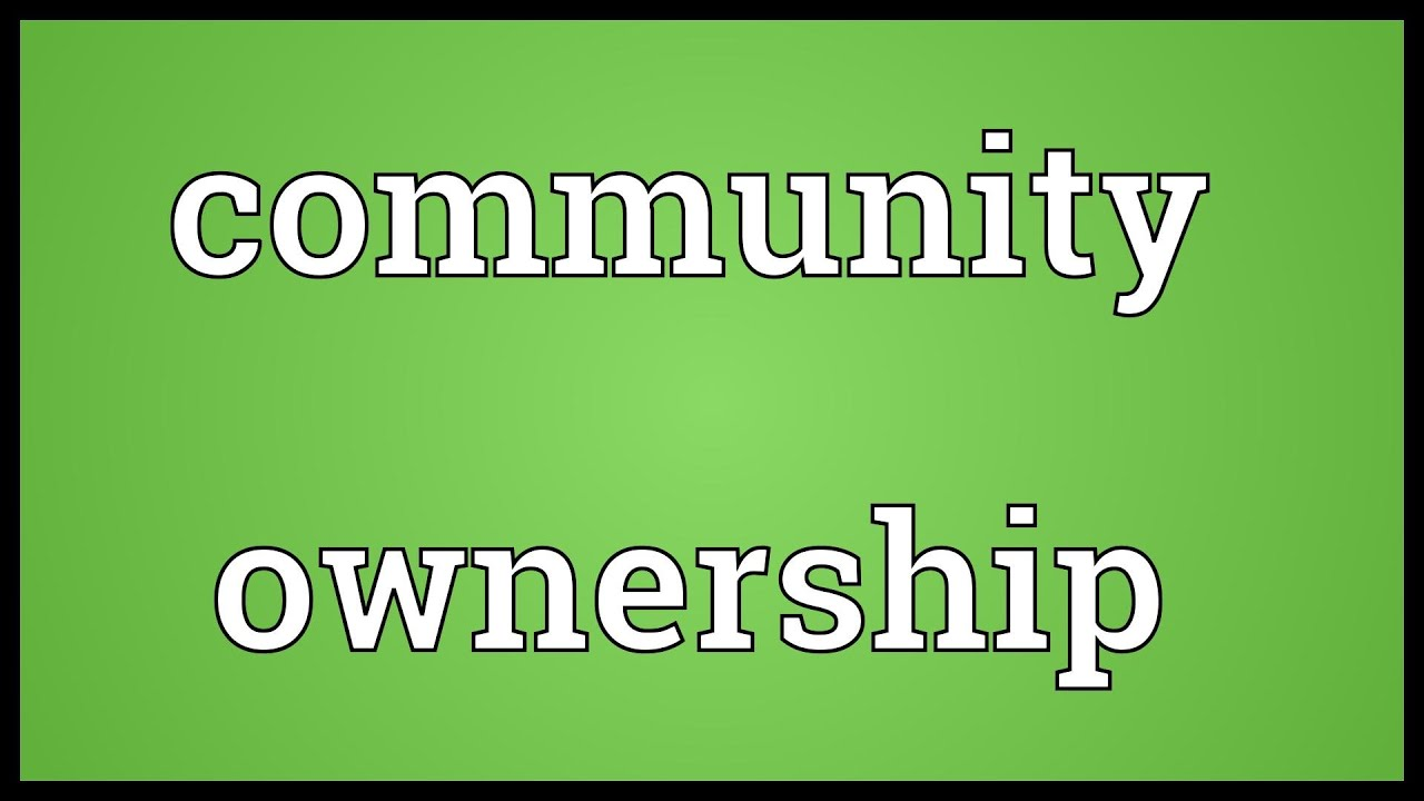 Community Ownership