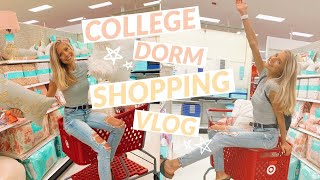 college shopping vlog!! decor, bedding, & more!