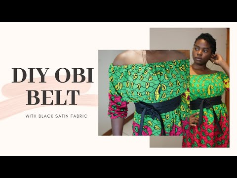 How to make Fabric OBI Belt – DIY Black Satin