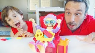 Father And Son play with Greedy Granny Toy
