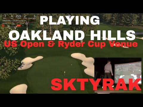 Oakland Hills South Course, played on SkyTrak Golf and TGC Protee SImulator