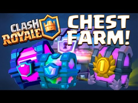 CHEST FARM! :: Clash Royale :: MAX THE CLAN CHEST?