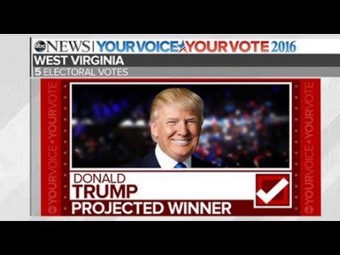 Trump Wins West Virginia   2016 Presidential Election Projection