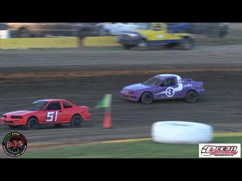 Ocean Speedway July 12th, 2019 4 Bangers Main Event Highlights