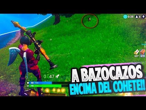 A BAZOCAZOS ENCIMA DEL COHETE con la NUEVA SKIN!! | FORTNITE: Battle Royale | Rubinho vlc