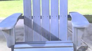 Cape Maye Weathered Adirondack Rocker - Wedgewood Blue - Product Review Video