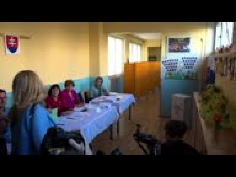Slovak presidential candidate Caputova votes