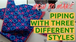 how to make piping with three different styles💃[sleeve piping]