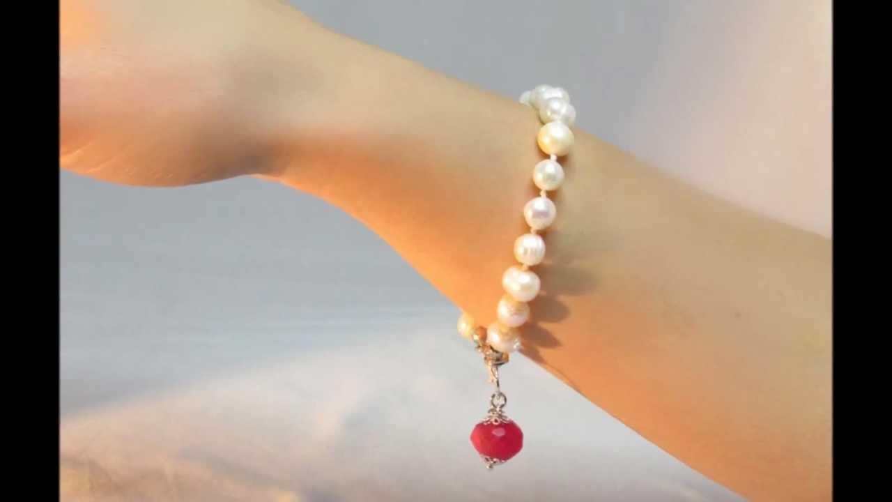 Super Bracciali di Perle e Pietre dure - Oggetti D'Atmosfera - Gioielli  TX07