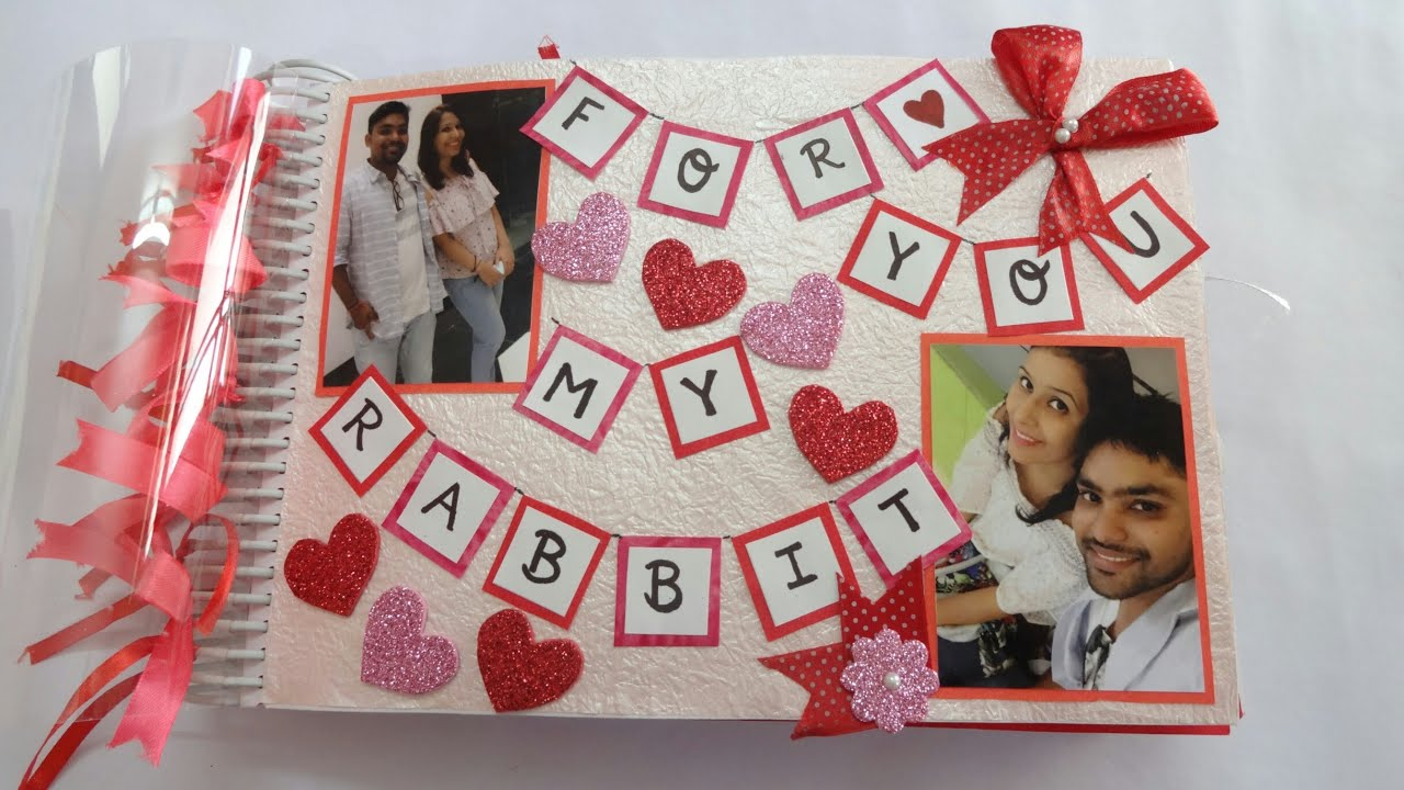 Handmade Scrapbook For Someone Special Best Scrapbook Idea Scrapbook Ideas For Anniversary Valentine Youtube