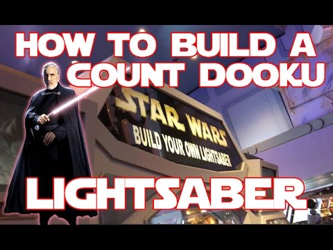 star wars build your own count dooku lightsaber toy at disneyland