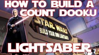 Star Wars   Build your own Count Dooku Lightsaber toy at Disneyland Darth Tyranus