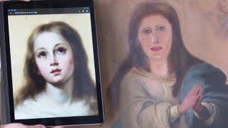 Dejan irreconocible la pintura de Concepción inmaculada después de ser restaurada