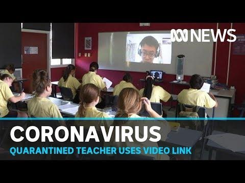 Teacher in coronavirus self-quarantine continues Darwin classes via video link | ABC News