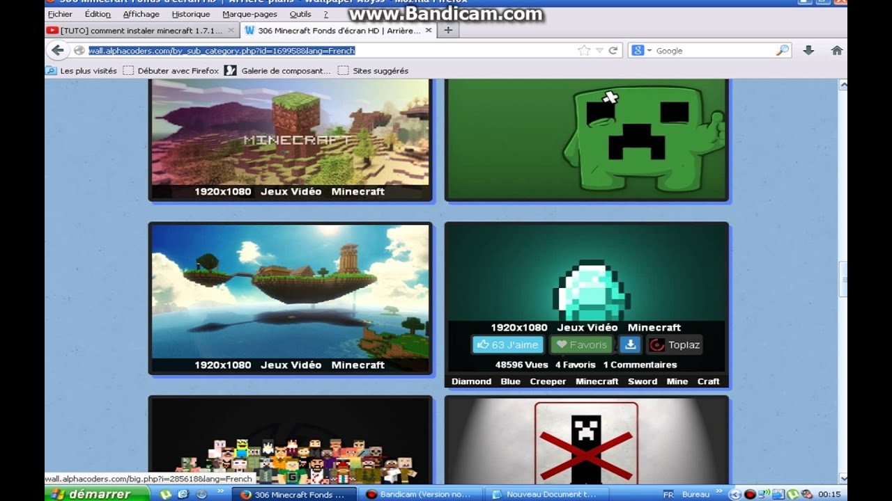 Tutocomment Telecharger Des Fond Ecran Minecraft Frhd