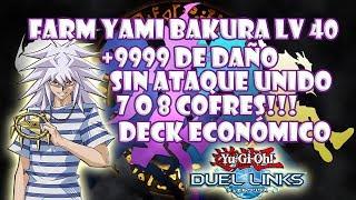 como farmear a yami bakura lv40 7 o 8 cofres 9999 yugioh duel links
