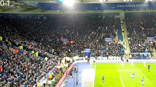 MAN CITY FANS AT LEICESTER | LEICESTER 0-1 MAN CITY | JESUS GOAL | 22/02/20