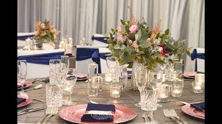 Blush Pink + Navy Wedding, styled by Enchanted Empire Event Artisans
