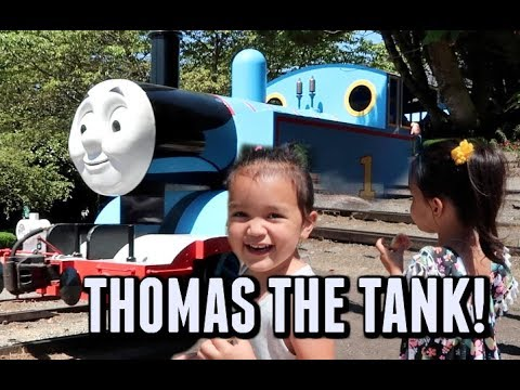 RIDING THOMAS THE TANK ENGINE! -  ItsJudysLife Vlogs