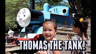 RIDING THOMAS THE TANK ENGINE! -  ItsJudysLife Vlogs