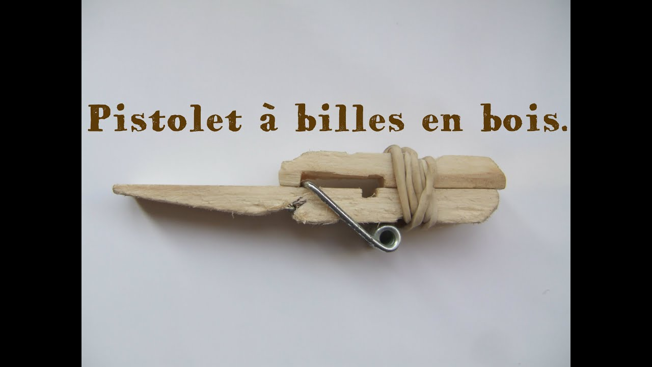 tuto 1 comment faire un pistolet bille avec une pince linge en bois diy youtube. Black Bedroom Furniture Sets. Home Design Ideas