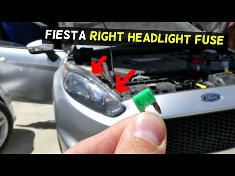 FRONT RIGHT HEADLIGHT FUSE LOCATION REPLACEMENT MK7 ST
