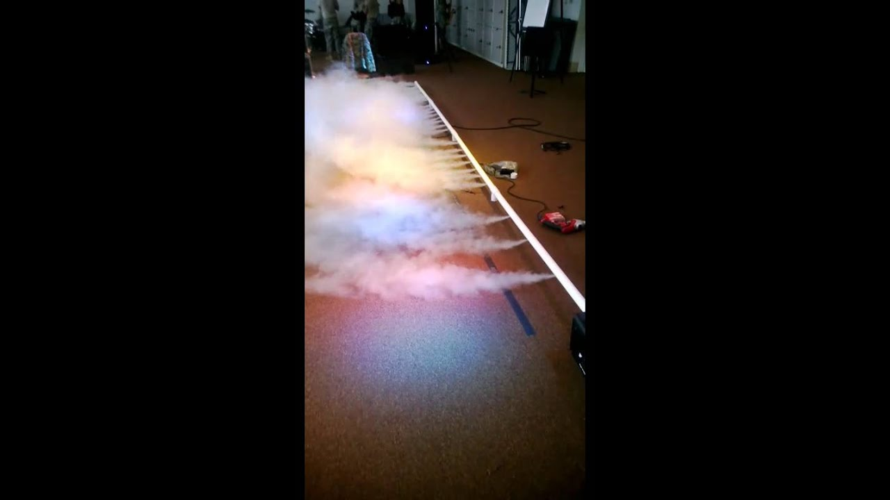 how to make water smoke without dry ice