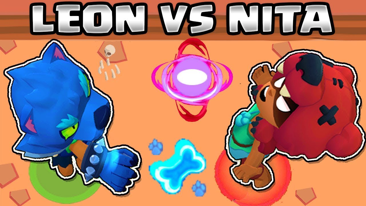 Leon Vs Nita 1vs1 Brawl Stars Lobo Leon Youtube