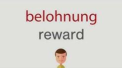 Wie heißt belohnung auf englisch