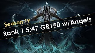 Diablo 3 Rank 1 GR150 in 5:47 Featuring Angels Season 19