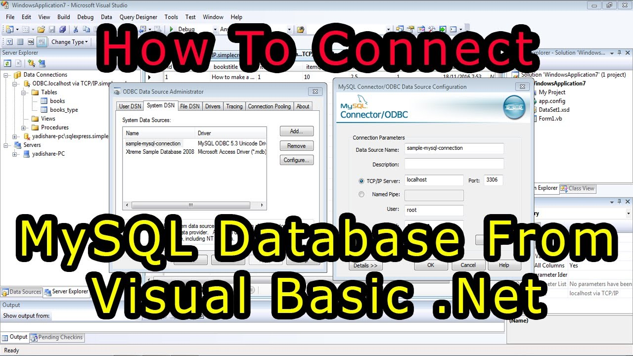 how to connect visual basic and A lot of networked applications choose tcp/ip because there is no risk of data being damaged while traveling across the internet it's connection oriented.