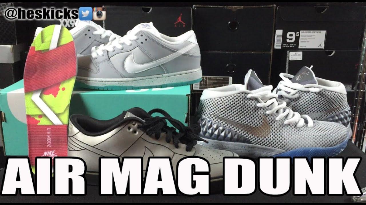 Back to the Future 2 Fun! Nike SB  Air Mag  Dunk Low (on feet) (Delorean  Dunk   Kyrie 1) 49ea7382a
