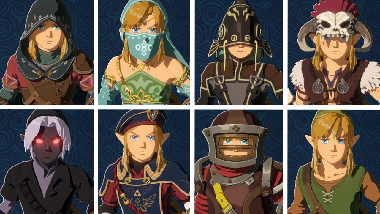 Hyrule Warriors Age Of Calamity All Costumes Youtube