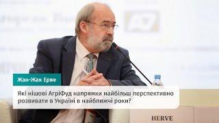 Какие нишевые АгриФуд направления наиболее перспективно развивать в Украине - беседа с Жаном-Жаком Эрве