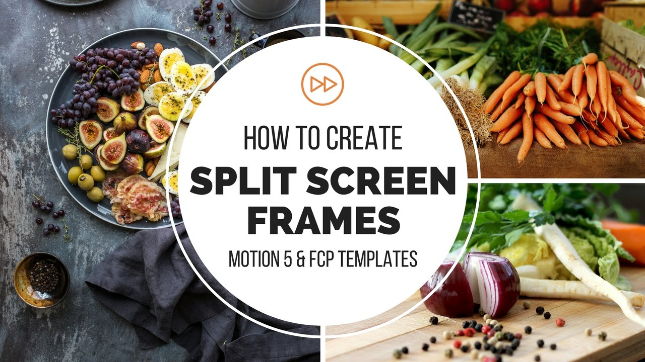 How to Create Split Screen Frames - Motion 5 & FCP Templates - YouTube