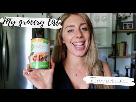 healthy-grocery-shopping-on-a-budget-|-vegan-pantry-staples-&-free-printable-grocery-list