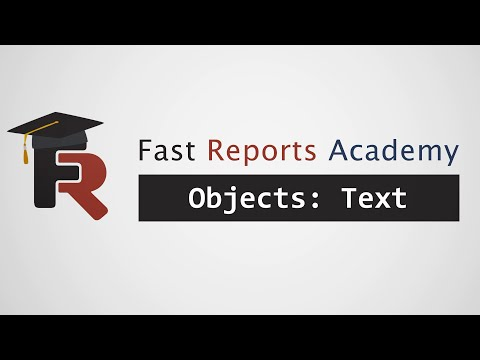 FastReport .NET Objects: Text