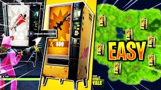 """How To Find """"NEW Vending Machines"""" EASY in Fortnite! - 'ALL' New """"Vending Machine Spawn Locations!"""""""