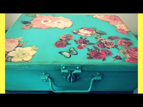 DIY - Decoupage on METAL!!