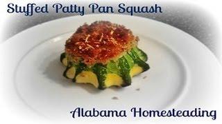 Cooking For Gardeners - Stuffed Pattypan Squash
