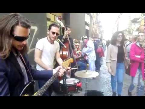 Mystery Train by street musicians in Naples Alleys - Barabba