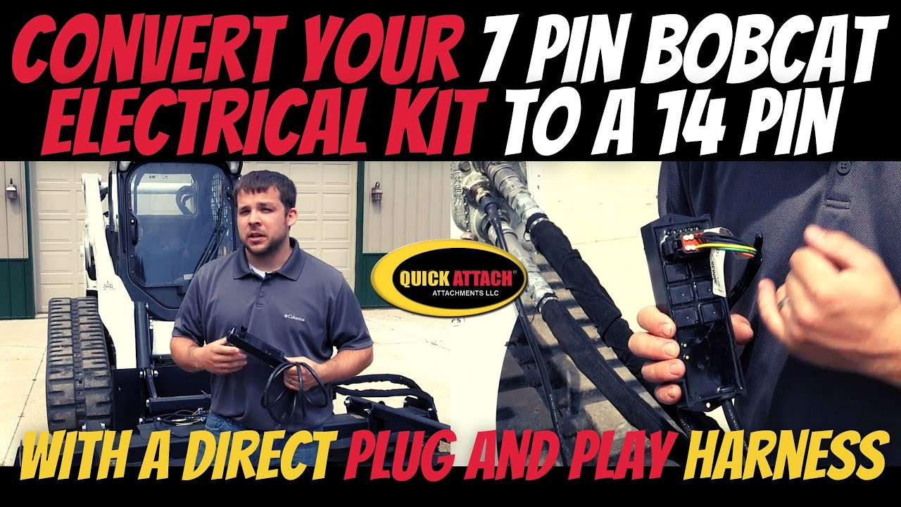 quick attach compatibility kit for bobcat 7 to 14 pin electrical harness adapter [ 1280 x 720 Pixel ]