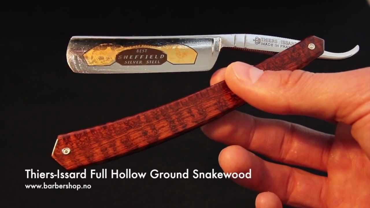 Thiers Issard Full Hollow Ground Snakewood Youtube