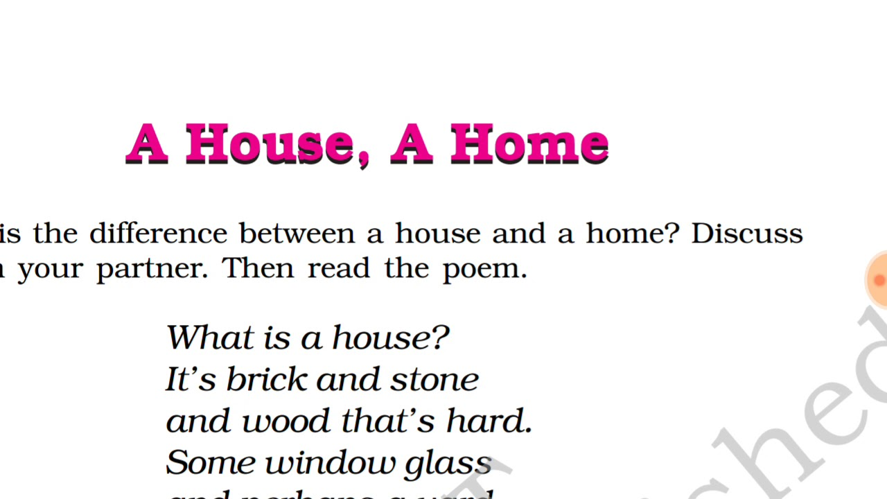 medium resolution of Class 6th A house
