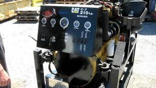 moteur Caterpillar C7 sur banc pour école