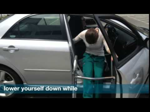 how to get in a car after knee surgery youtube. Black Bedroom Furniture Sets. Home Design Ideas