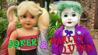 Making Harley Quinn and Joker Inspired American Girl Dolls!