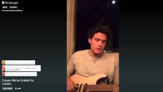 John Mayer on Periscope plays a super chill Slow Dancing In A Burning Room 9/8/15