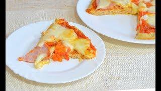 Пицца без теста в духовке рецепт