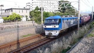 2019/05/11 JR貨物 湖西界隈 朝の定番貨物列車5本 1055レに大ネコロジーコンテナ